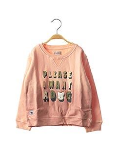 Sweat-shirt rose CHIPIE pour fille