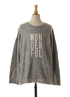 Pull col rond gris CHIPIE pour fille