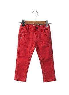 Jeans coupe slim rouge JEAN BOURGET pour enfant