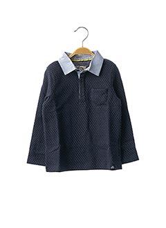 Polo manches longues bleu JEAN BOURGET pour garçon