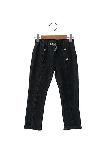 Pantalon casual noir JEAN BOURGET pour fille