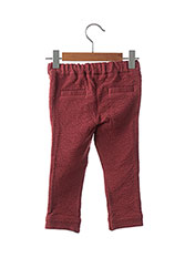 Pantalon casual rouge JEAN BOURGET pour fille seconde vue
