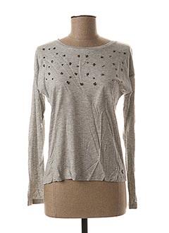 T-shirt manches longues gris BECKARO pour fille