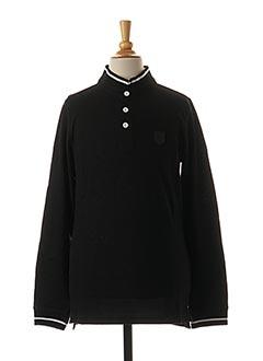 T-shirt manches longues noir BECKARO pour garçon