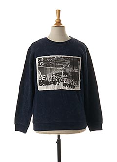 Sweat-shirt bleu BECKARO pour garçon