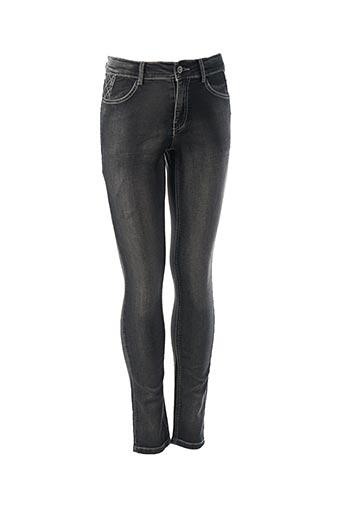 Jeans coupe slim noir BECKARO pour fille