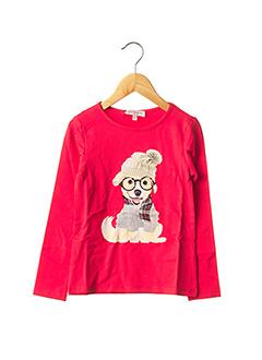 T-shirt manches longues rouge LILI GAUFRETTE pour fille