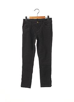 Pantalon casual noir LILI GAUFRETTE pour fille