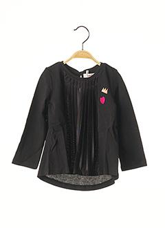 T-shirt manches longues noir CATIMINI pour fille