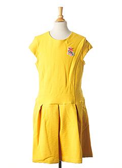 Robe mi-longue jaune CATIMINI pour fille