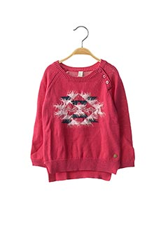 Pull col rond rose ESPRIT pour fille
