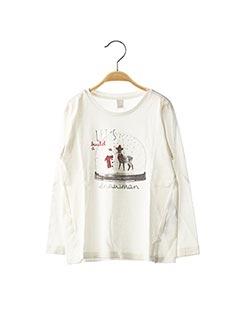 T-shirt manches longues blanc ESPRIT pour fille