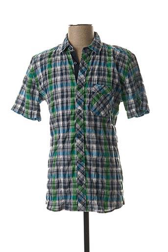 Chemise manches courtes bleu STRELLSON pour homme
