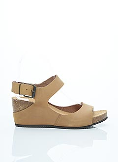 Sandales/Nu pieds beige AYOKA pour femme