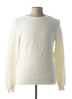 Pull col bateau blanc ZANONE pour homme