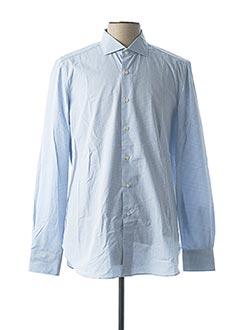 Chemise manches longues bleu BOGLIOLI pour homme