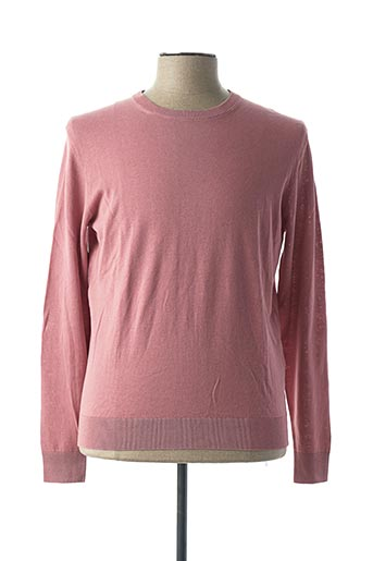 Pull col rond rose ALTEA pour homme