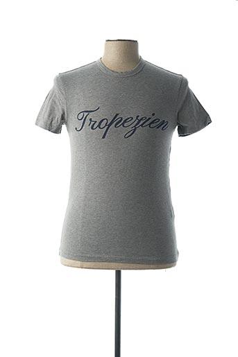 T-shirt manches courtes gris DANIEL CREMIEUX pour homme