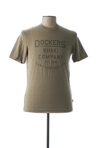 T-shirt manches courtes vert DOCKERS pour homme