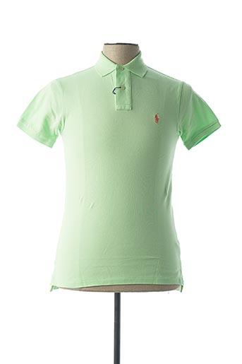 Polo manches courtes vert RALPH LAUREN pour homme