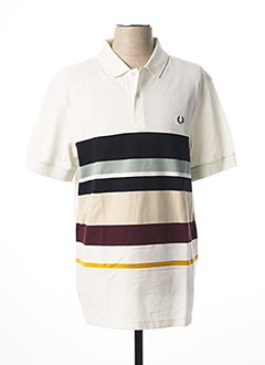Polo manches courtes blanc FRED PERRY pour homme