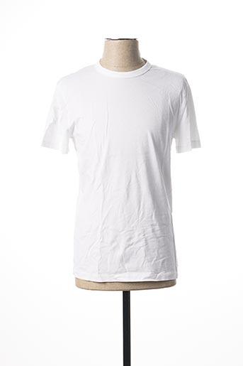 T-shirt manches courtes blanc DANIEL CREMIEUX pour homme