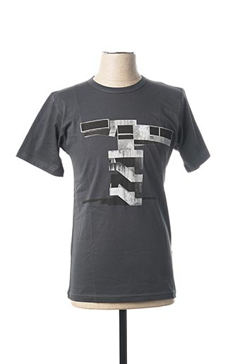 T-shirt manches courtes gris AGNES B pour homme