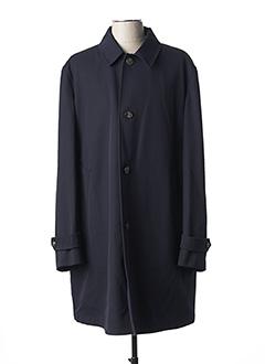 Manteau long bleu BOGLIOLI pour homme