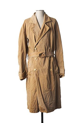 Manteau long beige YEESY SEASON 6 pour homme