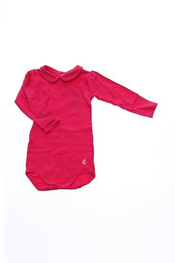 Body rose PETIT BATEAU pour fille