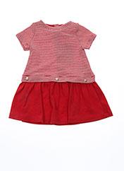 Robe mi-longue rouge PETIT BATEAU pour fille seconde vue