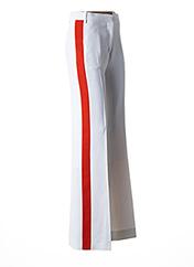 Pantalon chic blanc VICTORIA BECKHAM pour femme seconde vue