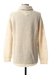 Pull col roulé beige MY SUNDAY MORNING pour femme seconde vue