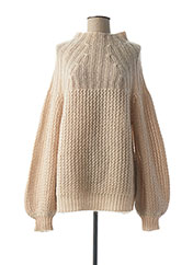 Pull col cheminée beige MY SUNDAY MORNING pour femme seconde vue