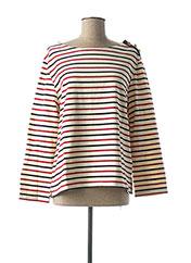 T-shirt manches longues rouge PETIT BATEAU pour femme seconde vue