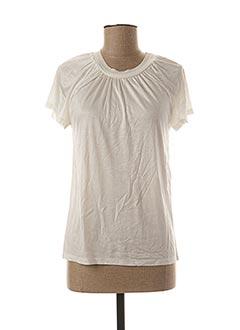 T-shirt manches courtes beige PAULE KA pour femme