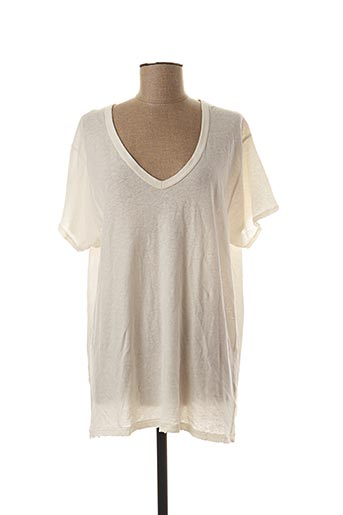 T-shirt manches courtes beige MY SUNDAY MORNING pour femme