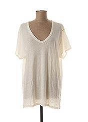 T-shirt manches courtes beige MY SUNDAY MORNING pour femme seconde vue
