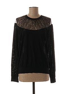 T-shirt manches longues noir PAULE KA pour femme
