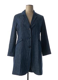 Manteau long bleu ARMANI pour femme