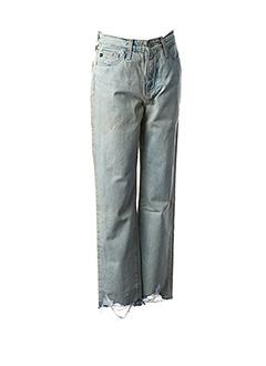 Jeans coupe droite bleu ADRIANO GOLDSCHMIED pour femme