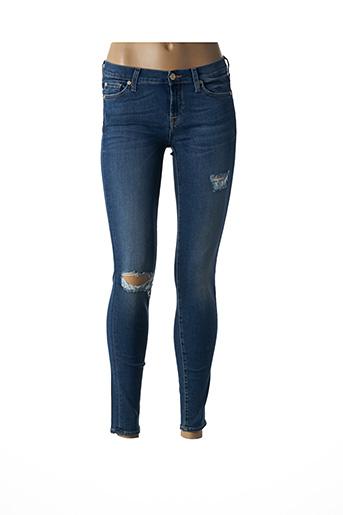 Jeans skinny bleu FOR ALL MANKIND pour femme
