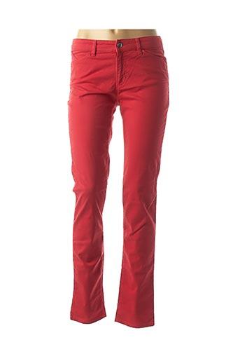 Pantalon casual rouge ARMANI pour femme