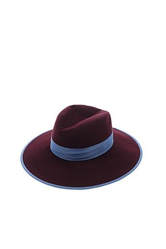 Chapeau rouge D'ESTRËE pour femme