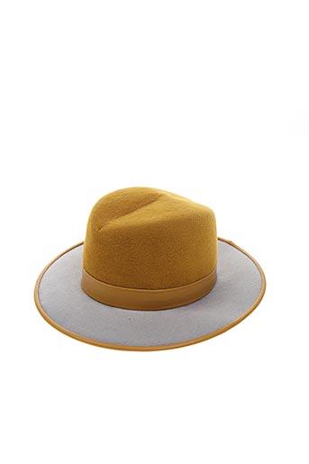 Chapeau jaune BLANCHE ABEL pour femme