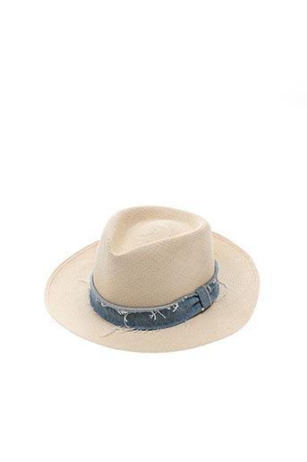 Chapeau beige DON pour femme