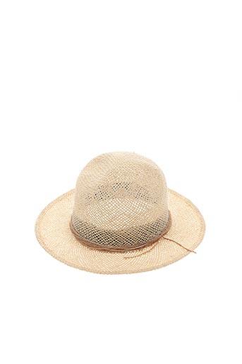 Chapeau beige SUPER DUPER pour femme