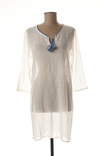 Chemise de nuit blanc LAURENCE TAVERNIER pour femme