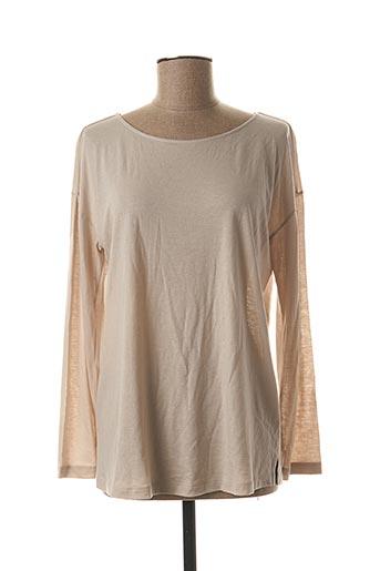T-shirt manches longues beige HANRO pour femme