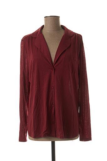 Pyjama rouge PRINCESSE TAM-TAM pour femme